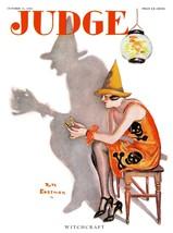 Judge Magazine Prints: Witchcraft - Eastman -  Oct 31 1925 - $12.95+
