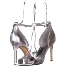 Nine West Matteo Ankle Strap Dress Sandals 893, Silver Metallic, 8 US - $32.25