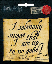 Harry Potter I Solemnly Swear That I Am Up To No Good Car Magnet, New Unused - $3.99