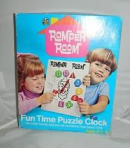 Vintage 1970 Hasbro Romper Room Fun Time Puzzle Clock Complete in Origin... - $17.82