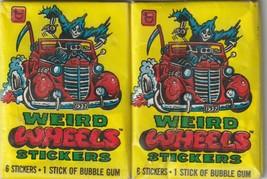 TOPPS WEIRD WORLD stickers 2 sealed wax packs, 1980 - $15.24