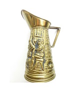 Vintage Brass Pitcher Raised Made in England - $16.99