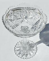 VTG ABP American Brilliant Period Cut Crystal Glass Compote Tall Pedesta... - $39.00