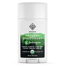 Botanik Natural Deodorant for Men - Fresh Evergreen - Organic - Aluminum Free -  - $20.84
