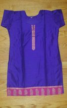 Women's Cotton Silk Blend Dark Purple Tunic Shirt Blouse Top  Size M  NWOT - $14.36