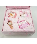 Kurt Alder Mercury Glass Baby Girl 1st Christmas Ornament Gift Set 4 Pc ... - $39.41