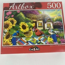 Weekly Quilt Meetup by Corinne Ferguson. 500 Pc Puzzle. Artbox. New. 18.... - $6.79