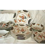 "MIKASA Japan Imari-Style Floral L6104 ""FAR EAST"" 23 Pieces China Dinner ... - $140.24"