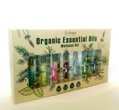 21 Drops Essential Oil Therapy Organic Essential Oils Wellness Set New - $32.73