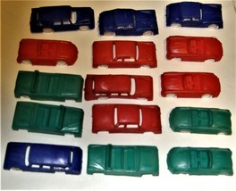 Vintage Lot of 12 Miniature GIANT Brand HONG KONG Plastic Cars - $5.90