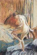 "Edgar Degas: Vintage Bookplate Print: ""After The Bath II"" 1883 - $12.00"