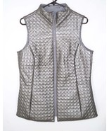 NEW Mycra Pac M Faux Leather Coated Reversible Vest Gray - $31.49