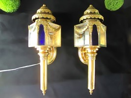 Antique Coach Lights Louis XV Style Vintage Gol... - $750.00