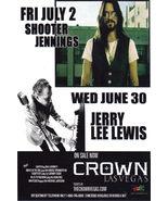 SHOOTER JENNINGS LERRYLEE LEWIS at CROWN Las Vegas  - $1.95