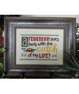 A Fisherman Lives Here cross stitch chart Cherry Hill Stitchery - $5.40