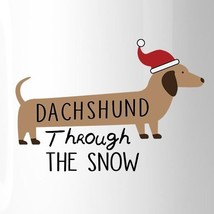 Dachshund Through The Snow White Mug image 2