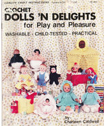 CROCHET DOLLS 'N DELIGHTS DOLLS CLOTHING TOYS WASHABLE3 - $4.95