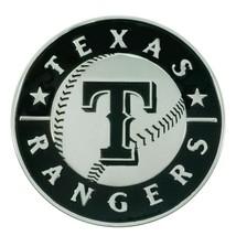 Fanmats MLB Texas Rangers Diecast 3D Chrome Emblem Car Truck RV 2-4 Day Del. - $12.86