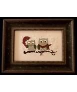 Christmas Owls cross stitch chart Cherry Hill Stitchery - $5.40