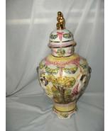 Vintage Capodimonte Covered Vase Jar Cherubs  Ld With Gold Cherub Italy ... - $94.05