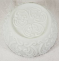 "Imperial Glass Scroll Pattern Bowl, White Satin, 8"" - $24.99"