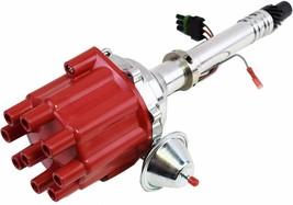 Pro Billet Series R2R Distributor GMC Chevy SBC BBC V8 327 350 396 454 Red image 2