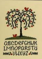 Willow Tree Alphabet cross stitch chart Cherry Hill Stitchery