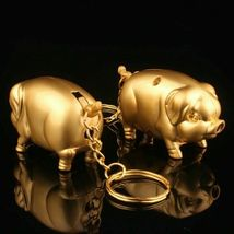 Gas Lighter Metal Gold Pig Model Inflated Butane Cigarette Fire Mini Creative image 7