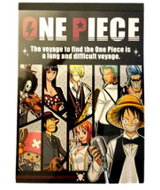 One Piece Anime Showa Note 80 Page Notepad with Sticker Sheet & Black Spine - $4.88