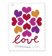 USPS Hearts Blossom Forever Stamps 2019 (1 Sheet of 20 Stamps) - $12.99