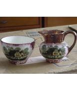 Gray's Pottery Stoke-on-Trent Ye Olde Jug Inn creamer and sugar - $35.00