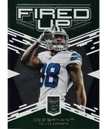 Dez Bryant Elite 2017 #8 Fired Up Green Dallas Cowboys - $1.00