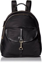 Calvin Klein Belfast Dressy Nylon Backpack, Black/Gold H6JKE5WU Handbag ... - $89.09