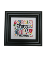 The Best Things In Life cross stitch chart Cherry Hill Stitchery - $5.40