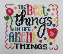 The Best Things In Life cross stitch chart Cherry Hill Stitchery