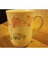 Otagiri Japan White Ceramic Pink Cyclamin Floral Cup Coffee Mug, PRETTY! - $5.00