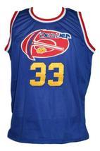 David Thompson #33 Denver Aba Retro Basketball Jersey New Sewn Blue Any Size image 1