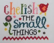 Cherish The Small Things cross stitch chart Cherry Hill Stitchery