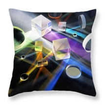 Prism Light, Throw Pillow, fine art, home decor, accent pillow, science - $41.99+