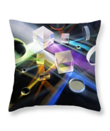 Prism Light, Throw Pillow, fine art, home decor, accent pillow, science - $41.99+
