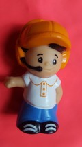 Little People Boy with Orange Hat • 2013 Mattel • Pre-owned • Nice Condi... - $7.75
