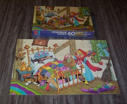 VINTAGE MB 1982 LITTLE RED RIDING HOOD Storybook JIGSAW PUZZLE 60 Pieces - $16.34