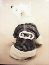 Zack & Zoey Glen Plaid Sherpa Teacup Dog Coat Jacket NWT - $7.95+