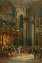 Prayer during the Coronation of Alexander II by Vasily Timm #2 - Art Print - $19.99+