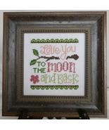 Love You Too The Moon cross stitch chart Cherry Hill Stitchery - $5.40