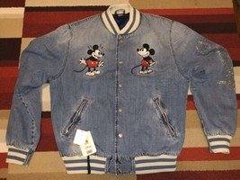Kith x Disney Denim Varsity Jacket with Swarovski Crystals sz L Large - $1,999.99