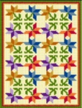 Latch Hook Rug Pattern Chart: Pinwheel Flowers - EMAIL2u - $5.75