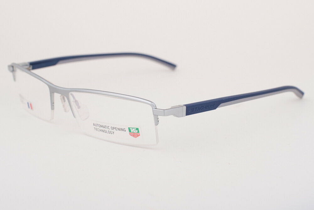 Tag Heuer 821 004 Automatic Blue Gray Eyeglasses 0821-004 58mm