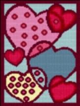 Latch Hook Rug Pattern Chart: Hearts - EMAIL2u - $5.75