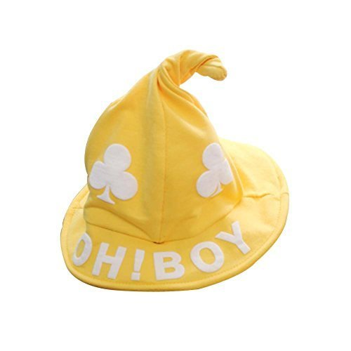 Yellow, Pure Cotton Comfortable Ventilate Children Cap/Kid Cap(Wizard Hat)